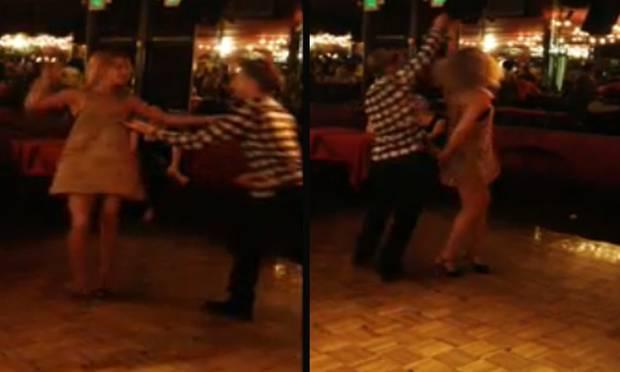 Kate Hudson wurde von ihrem Tanzpartner Derek Hough ganz schön übers Parkett gewirbelt.