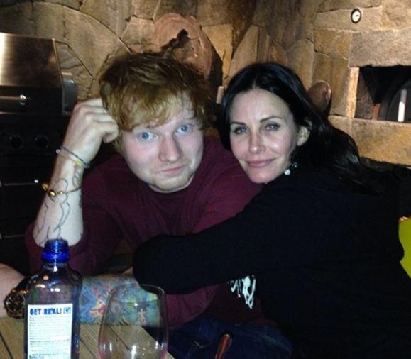 Gute Freunde: Ed Sheeran und Courteney Cox.