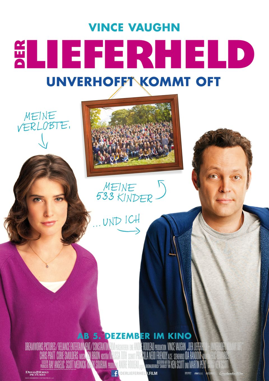"""Ab dem 5. Dezember im Kino: Vince Vaughn und Cobie Smulders in """"Der Lieferheld""""."""