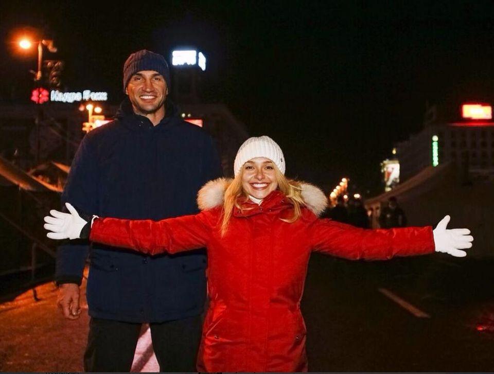 Hayden Panettiere begleitet ihren Wladimir auf Heimatbesuch.
