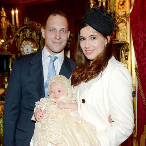 Lord Frederick Windsor mit Tochter Maud und Ehefrau Sophie Winkleman