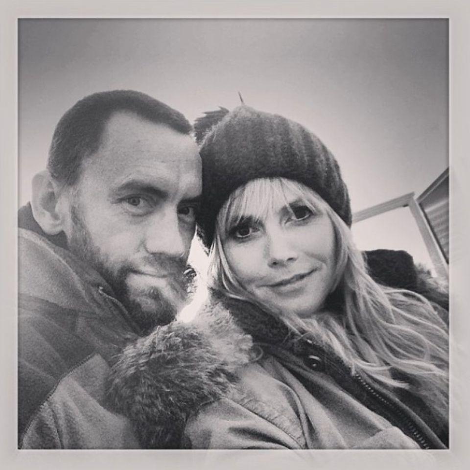 """""""Warm bleiben! Kälte bedeutet Kuscheln"""", schreibt Martin Kirsten zu diesem Foto bei Instagram."""