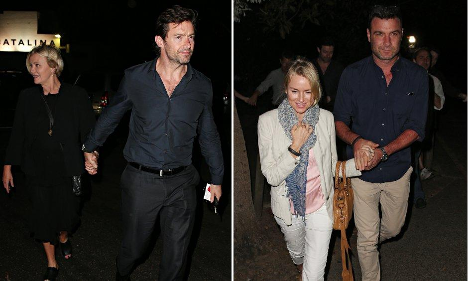 Deborah Lee-Furness, Hugh Jackman, Naomi Watts, Liev Schreiber