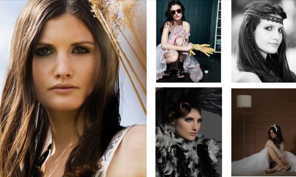 """Daniel Brühls Freundin Felicitas Rombold war als Model bei der Münchner Agentur """"Mia Model Agency"""" unter Vertrag, hier ist ihre Sedcard zu sehen."""