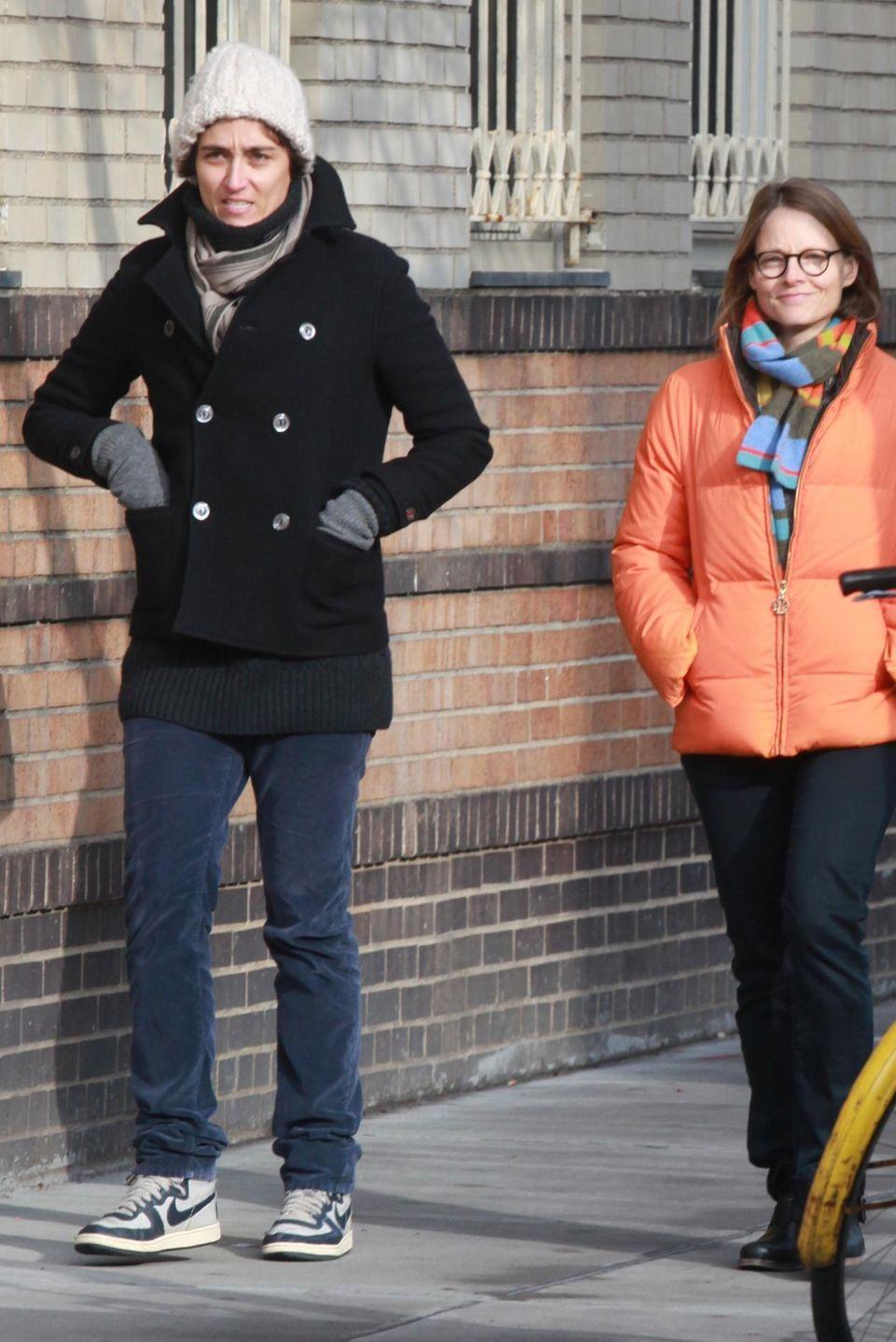 Gemeinsam mit ihrer neuen Freundin Alexandra Hedison war Jodie Foster in New York unterwegs.