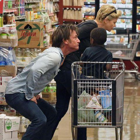 Sean Penn, Charlize und Jackson Theron