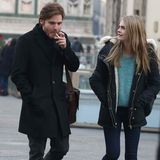 """18. Dezember 2013: Daniel Brühl und Cara Delevingne sind gerade für Dreharbeiten zum Film über Amanda Knox """"The Face of An Angel"""" in Florenz."""