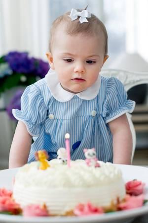 Prinzessin Estelle an ihrem ersten Geburtstag am 23. Februar 2013.