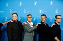 """Die Crew von """"Monuments Men"""": John Goodman, George Clooney, Jean Dujardin und Matt Damon"""