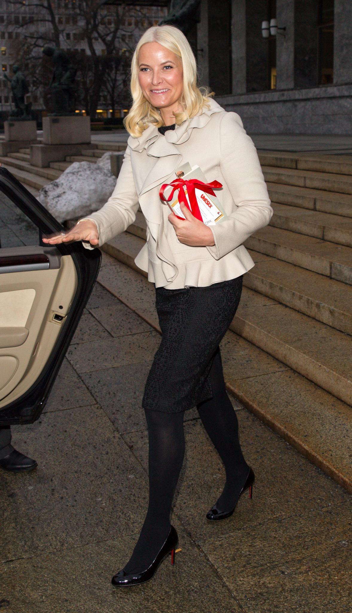 Mette-Marit am 7. Februar bei einer Ausstellung in Oslo.