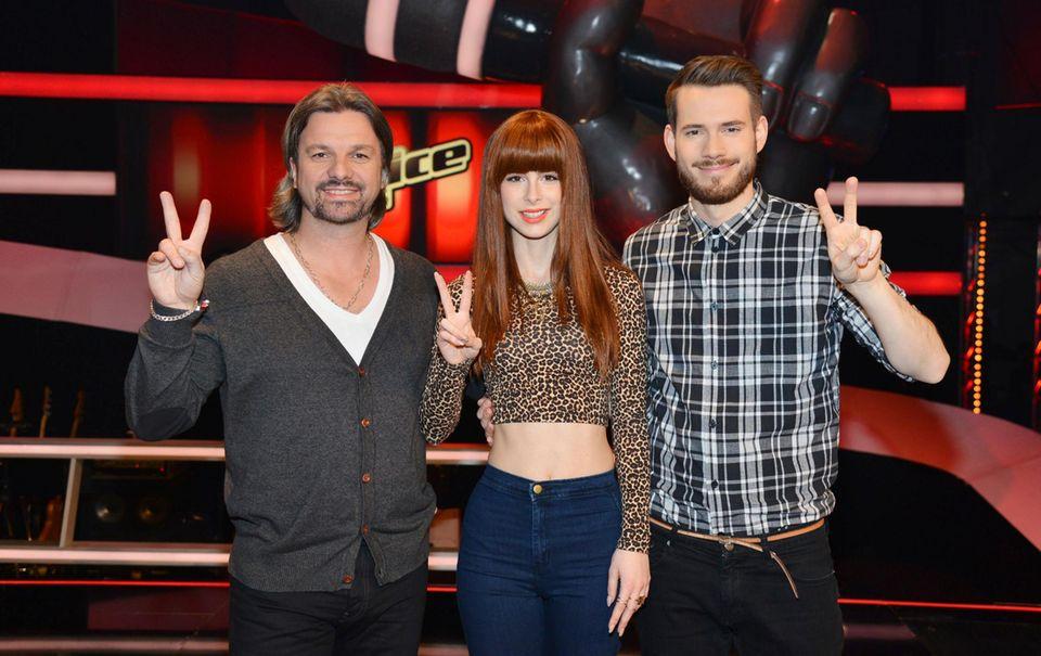 """Lena Meyer-Landrut und ihre Coach-Kollegen von """"The Voice Kids"""", Henning Wehland und Johannes Strate, freuen sich auf den Sendestart im März."""