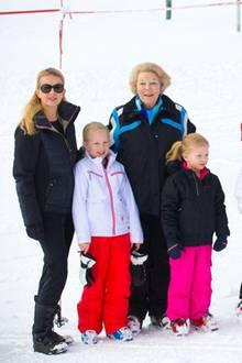 Die niederländische Königsfamilie in Lech.