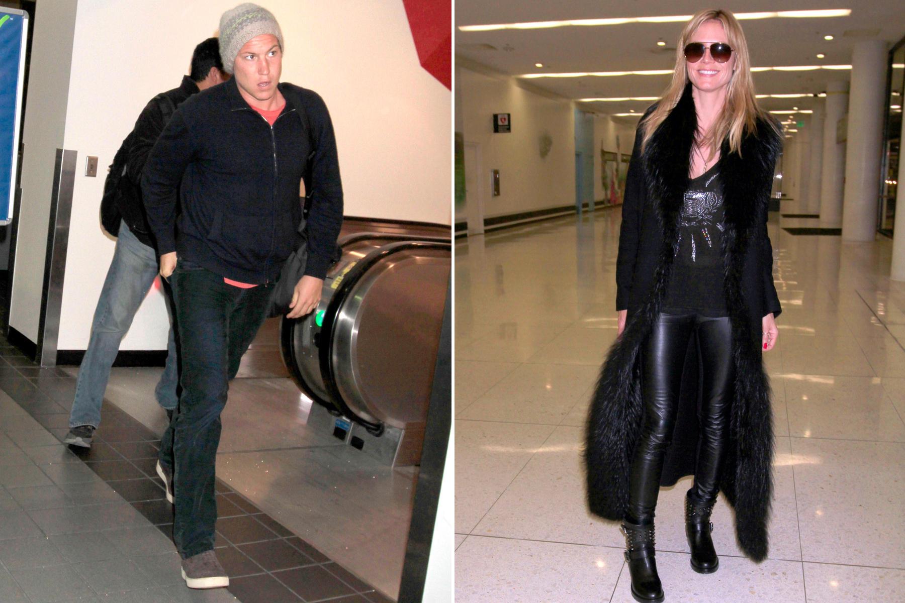 Vito Schnabel und Heidi Klum am Flughafen in Los Angeles