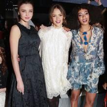 Miranda Kerr, Jessica Alba, + Solange Knowles