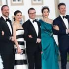 Die skandinavischen Kronprinzenpaare treten 2010 gemeinsam auf beim 70. Geburtstag von Königin Margrethe von Dänemark.
