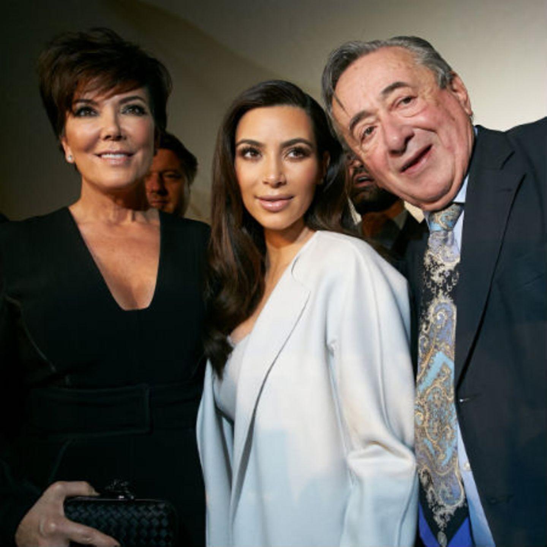 Kris Jenner, Kim Kardashian + Richard Lugner