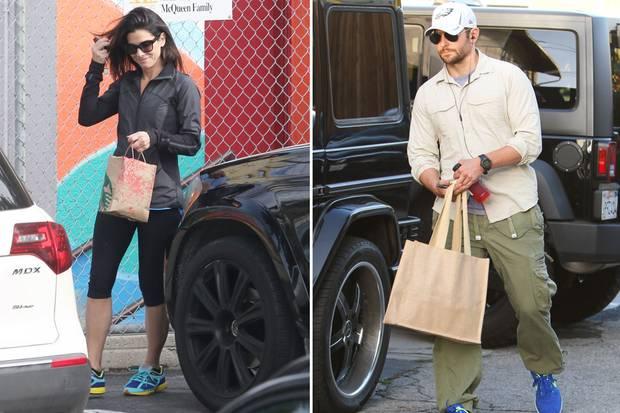 Kurz vor der Oscar-Verleihung herrscht bei den nominierten Stars noch Alltag: Sandra Bullock bringt ihren Sohn Louis zur Schule, Bradley Cooper kommt vom Sport.