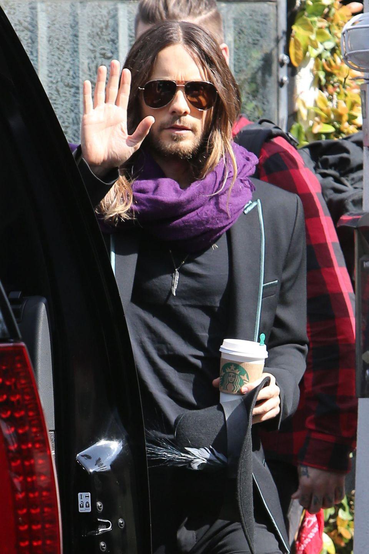 Jared Leto ist am Tag nach den Oscars schon früh unterwegs.