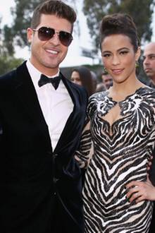 Robin Thicke + Paula Patton