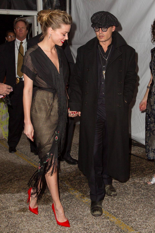 Johnny Depp unterstützt seine Verlobte Amber Heard bei den Texas Film Awards.