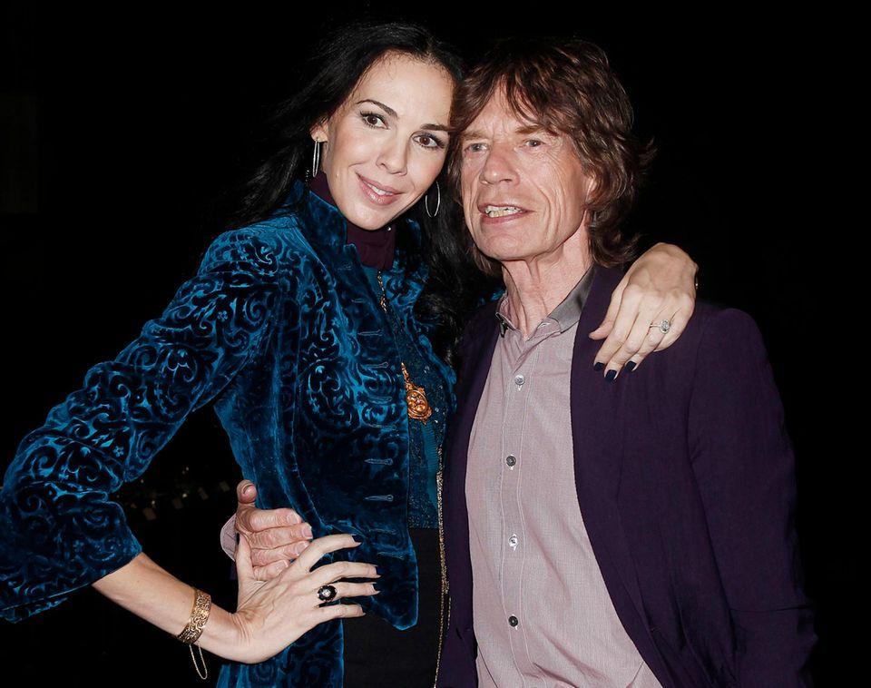L'Wren Scott und Mick Jagger gemeinsam auf der New York Fashion Week