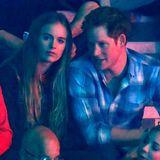 Cressida Bonas und Prinz Harry Debüt als Paar im Wembley-Stadion.
