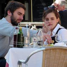 Matthew Janney und Emma Watson gemeinsam in Madrid.