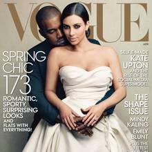"""Kanye West und Kim Kardashian auf dem Cover der """"Vogue"""""""