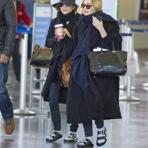 Fragwürdiger Partnerlook: Mary-Kate und Ashley Olsen
