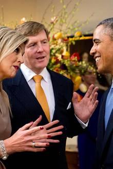 Königin Máxima, König Willem-Alexander, Präsident Barack Obama