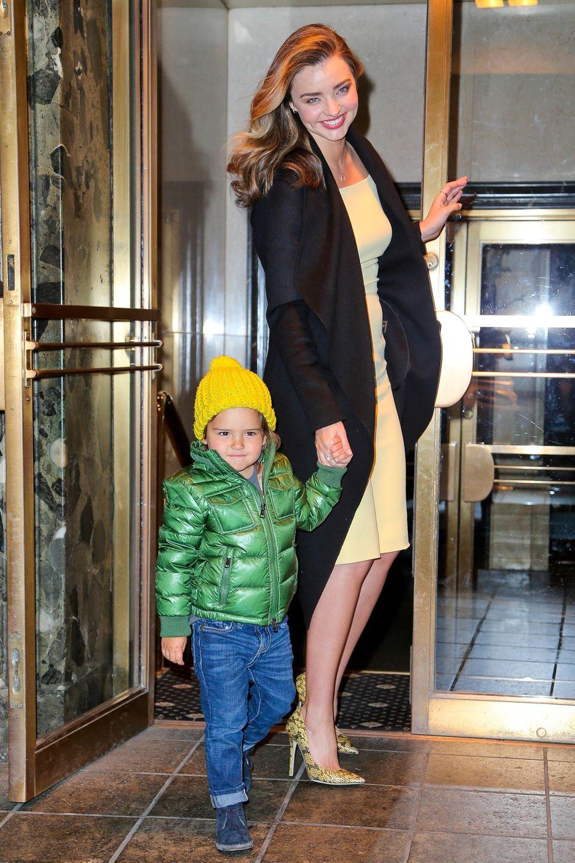Miranda Kerr mit Flynn in New York.