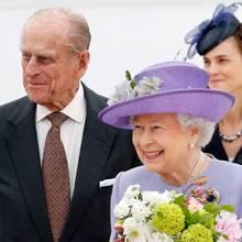Prinz Philip und Queen Elizabeth sind für einen Tag in Italien.