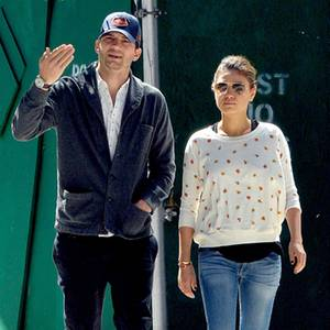 Ashton Kutcher + Mila Kunis