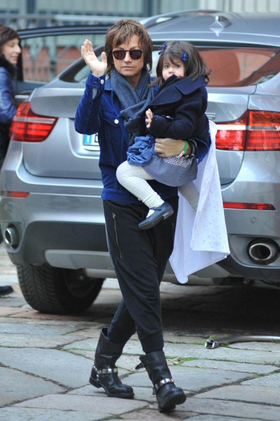 Gianna Nannini mit ihrer Tochter Penelope, die sie am 26. November 2010 - im Alter von 54 Jahren - zur Welt brachte.