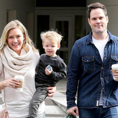 1. März 2014: Vereint zum Wohle des Kindes: Hilary Duff und ihr Ex Mike Comrie gehen mit Sohn Luca gemeinsam sonntags frühstücken.