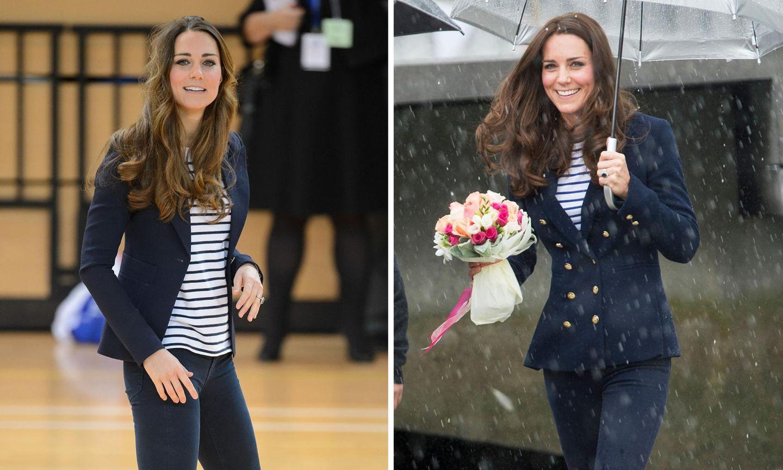 Herzogin Catherine in London (links) und in Auckland (rechts)