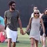 Was läuft da zwischen Noah Becker und Zoe Kravitz, der Tochter von Lenny Kravitz? Die beiden spazieren Händchen haltend übers Festivalgelände.