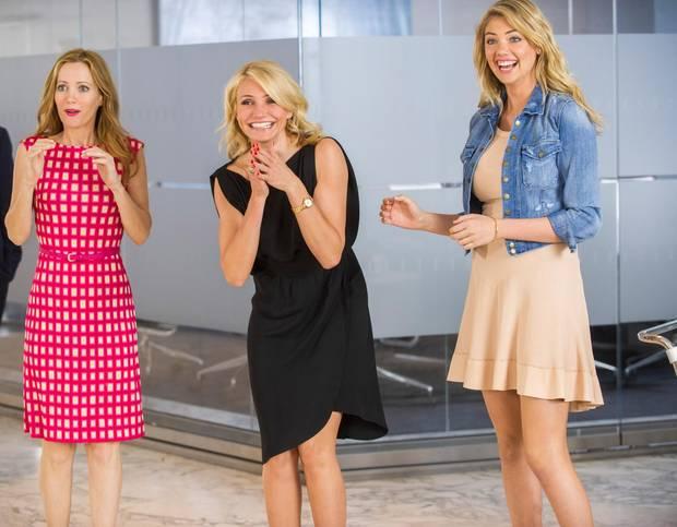 """Leslie Mann, Cameron Diaz und Kate Upton als """"Kate"""", """"Carly"""" und """"Amber"""" in """"Die Schadenfreundinnen""""."""