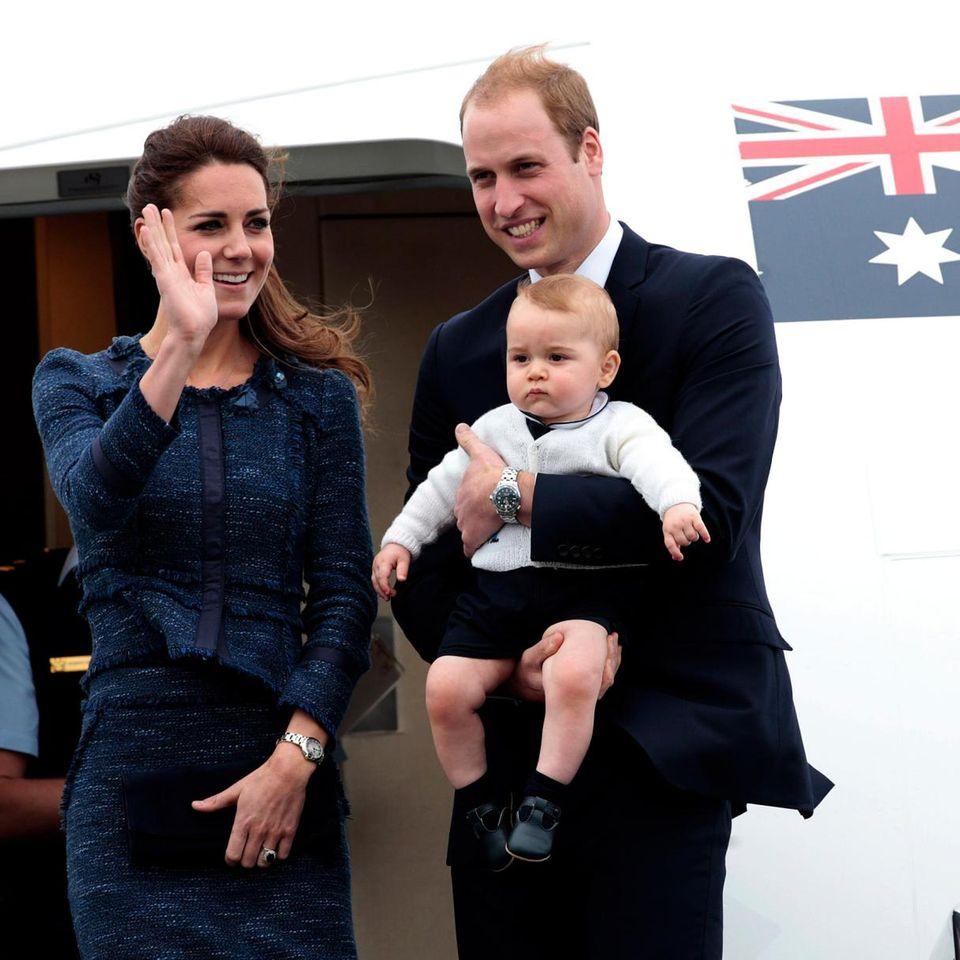Herzogin Catherine und Prinz William mit Prinz George