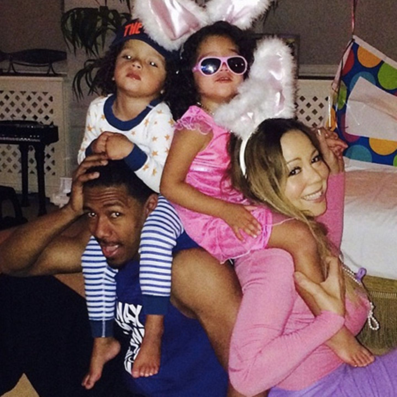 Mariah Carey mit der Familie
