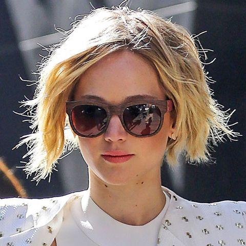 Der fransig geschnittene Bob passt gut zu Jennifer Lawrence.