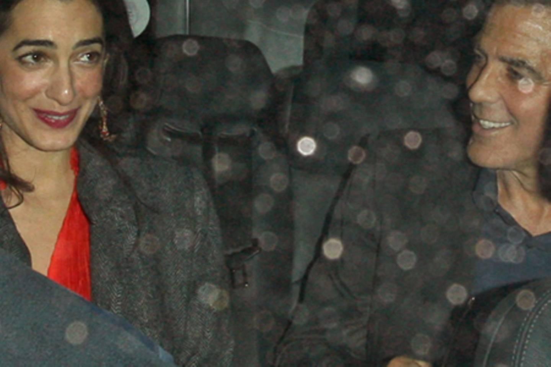 Amal Alamuddin + George Clooney