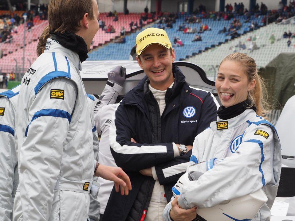 Seine Freundin Beatrice Borromeo stieg am Wochenende ebenfalls in einen Rennwagen.