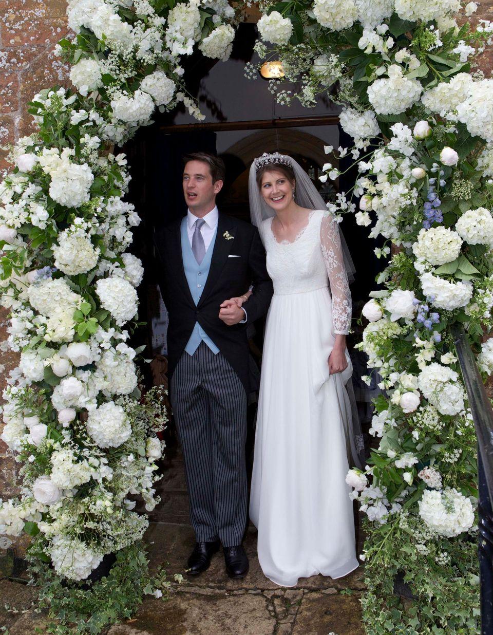 Prinzessin Florence von Preußen und James Tollemache haben im Süden Englands geheiratet.