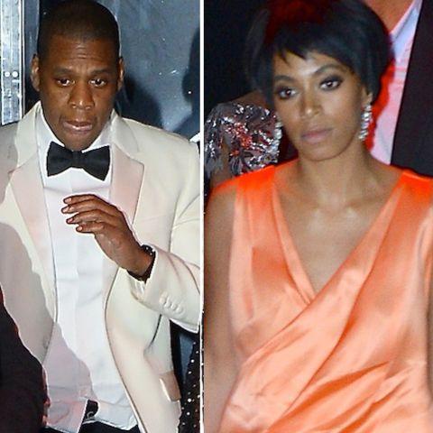 Jay-Z und seine Schwägerin Solange Knowles unmittelbar nach der angeblichen Prügelattacke in New York.