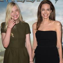 Elle Fanning + Angelina Jolie