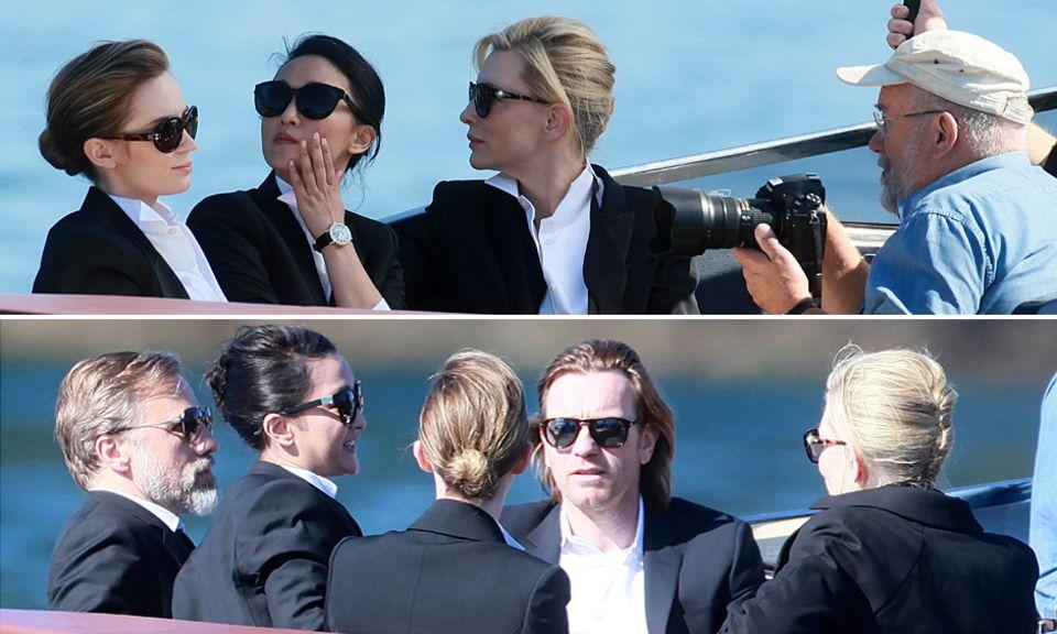 Sonnenschein, die Côte d'Azur und fünf bildhübsche Schauspieler: Für die IWC-Kampagne ließen sich Ewan McGregor, Cate Blanchett, Emily Blunt, Christoph Waltz und Zhou Xun im eleganten Look ablichten.