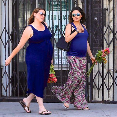 Mila Kunis mit ihrer Schwägerin in spe