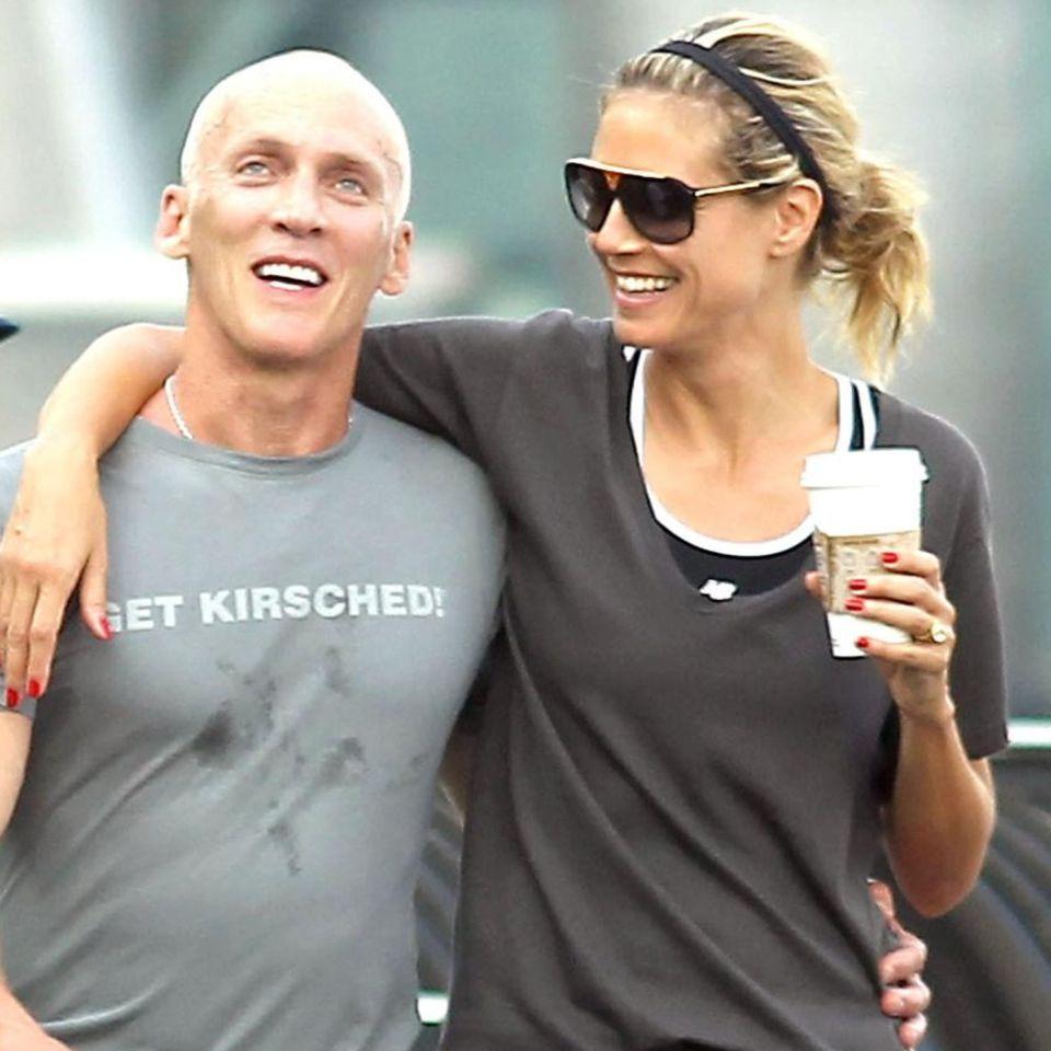 Personaltrainer David Kirsch und Heidi Klum strahlen nach einem erfolgreichen Work-Out.