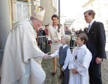 Prinz Gabriel von Nassau bei seiner Kommunion am Samstag (24. Mai) in Luxemburg.